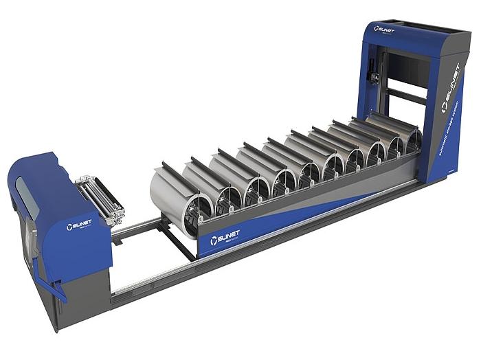 Linka na příčné a podélné dělení svitků plechu od renomovaného německého výrobce ASCO Machines