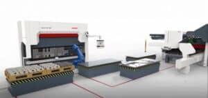 Výrobní linka laser - ohraňovací lis